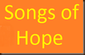 Songs of Hope logo yellow on orange