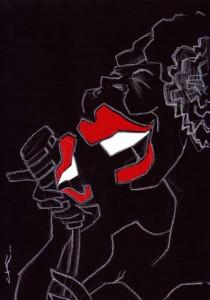 #1  Women In Blues (poster artwork series) by Chris Kelly Cartoonist