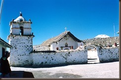 Parinacota church Chile by Alberto on flickr