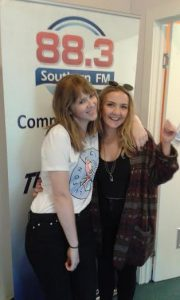 Host Maddie.O & Liv Cartledge after Liv's studio set.