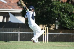 Omega's Glenn Beckett on his way to an unbeaten 88 against East Sandringham