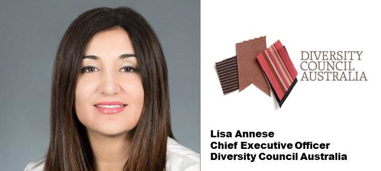 Lisa Annese and the Diversity Council of Australia logo